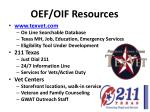 oef oif resources