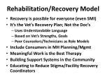 rehabilitation recovery model
