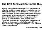 the best medical care in the u s