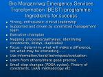 bro morgannwg emergency services transformation best programme ingredients for success