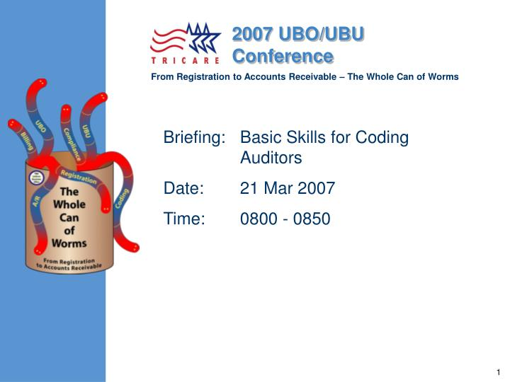 briefing basic skills for coding auditors date 21 mar 2007 time 0800 0850 n.