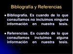 bibliograf a y referencias