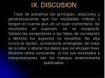 ix discusion