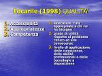 focarile 1998 qualita