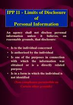 ipp 11 limits of disclosure of personal information