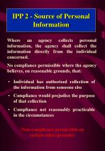 ipp 2 source of personal information