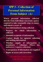 ipp 3 collection of personal information from subject a