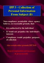 ipp 3 collection of personal information from subject b