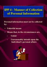 ipp 4 manner of collection of personal information