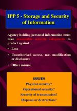 ipp 5 storage and security of information