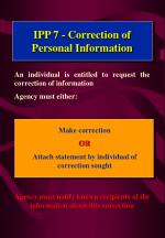 ipp 7 correction of personal information