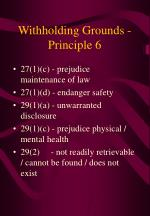 withholding grounds principle 6