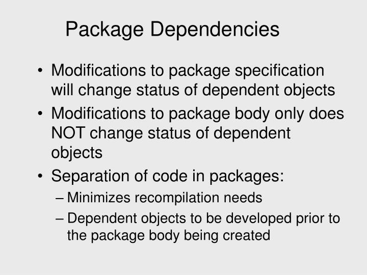Package Dependencies