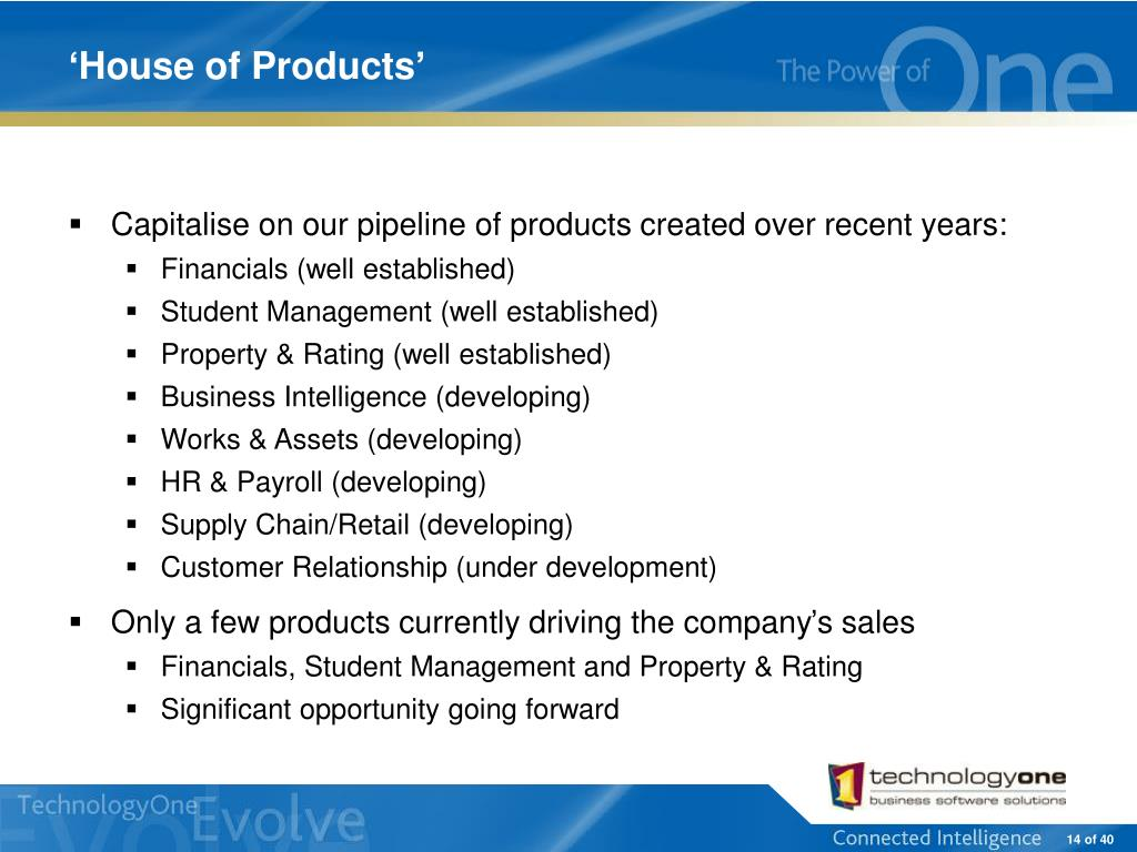 'House of Products'