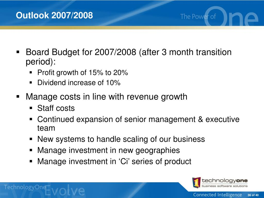 Outlook 2007/2008