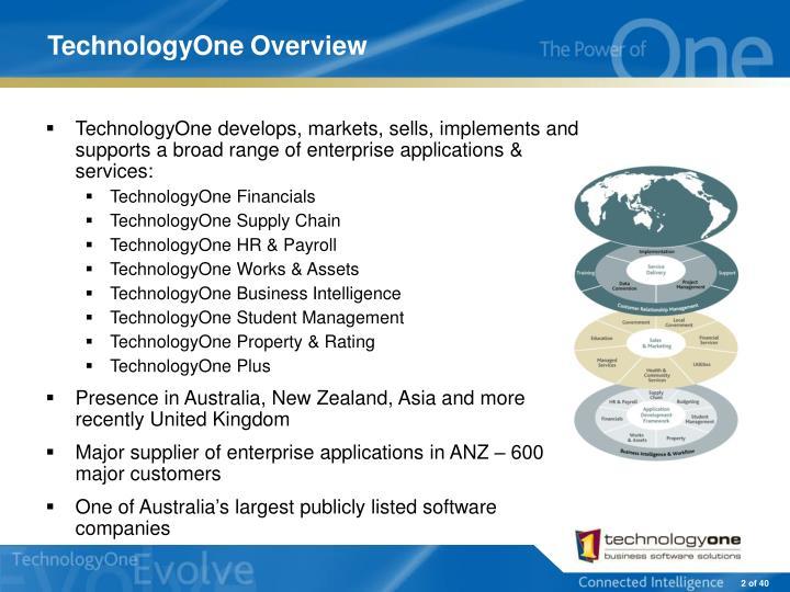 Technologyone overview