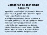 categorias de tecnologia assistiva