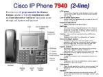 cisco ip phone 7940 2 line
