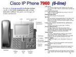 cisco ip phone 7960 6 line