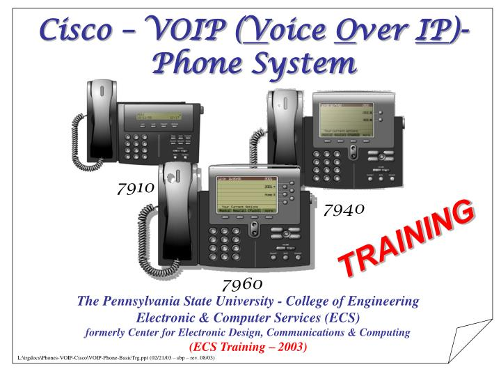 Cisco voip v oice o ver ip phone system