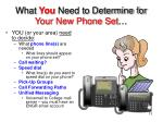 what you need to determine for your new phone set