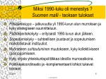miksi 1990 luku oli menestys suomen malli teoksen tulokset