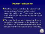 operative indications