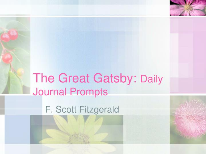 the great gatsby daily journal prompts n.