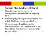 sociaal plan midden holland