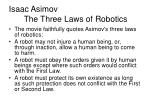 isaac asimov the three laws of robotics