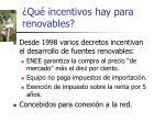 qu incentivos hay para renovables