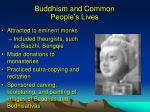buddhism and common people s lives