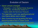 evolution of daoism