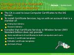 configuring the network certification authority