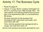 activity 17 the business cycle