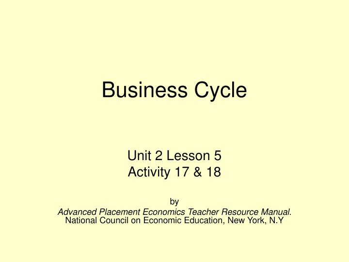 business cycle n.
