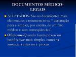 documentos m dico legais