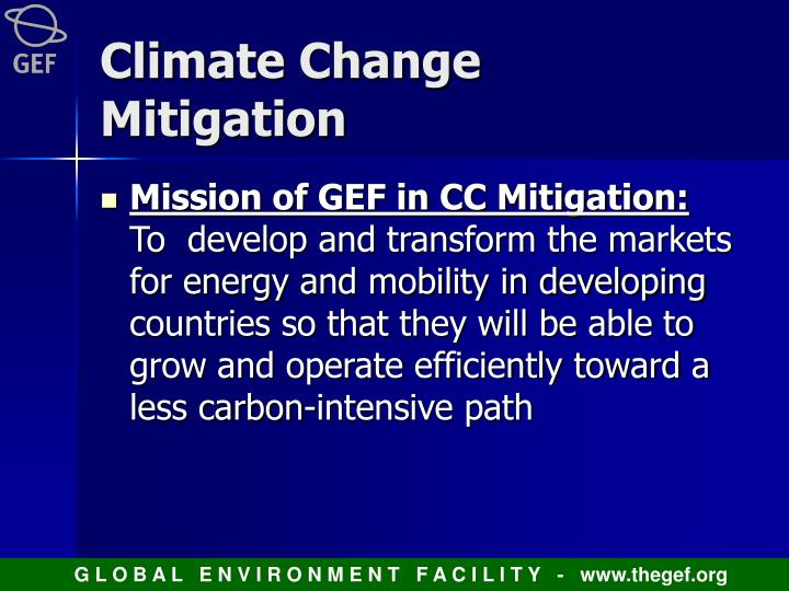 Climate Change Mitigation