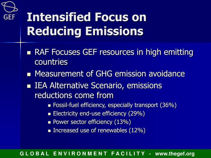 Intensified Focus on Reducing Emissions