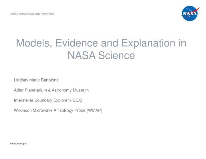 models evidence and explanation in nasa science n.