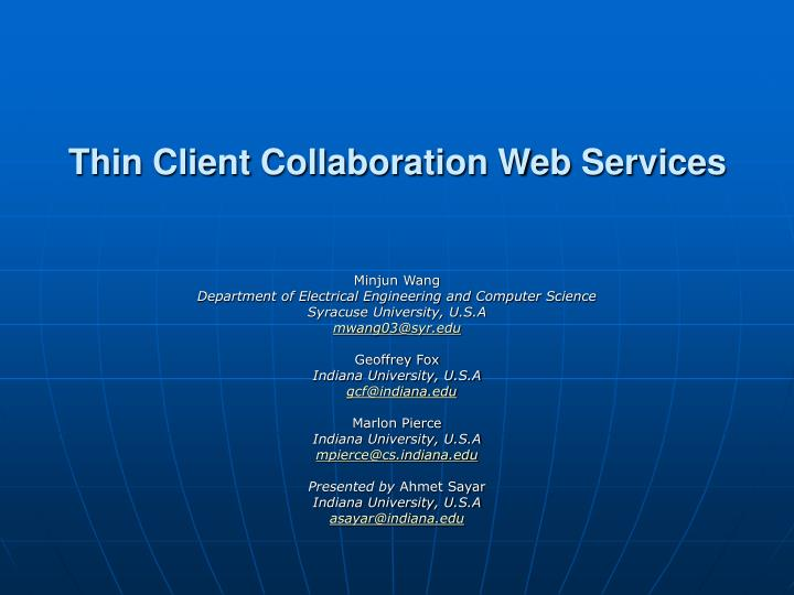 thin client collaboration web services n.