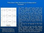 thin client web services in collaboration scenario 1
