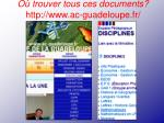 o trouver tous ces documents http www ac guadeloupe fr
