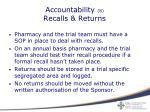 accountability 8 recalls returns