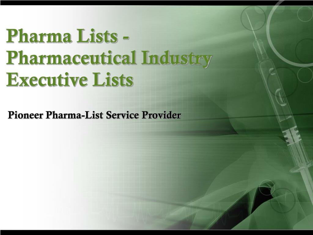pharma lists pharmaceutical industry executive lists l.