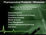 pharmaceutical products wholesale