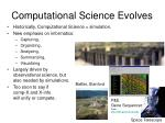 computational science evolves