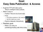 goal easy data publication access