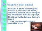 violencia y masculinidad