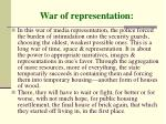 war of representation